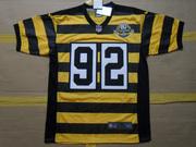2012 James Harrison Pittsburgh Steelers #92 80th Anniversary Throwback