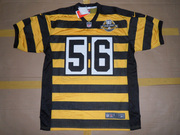 Pittsburgh Steelers #56 LaMarr Woodley 80th Anniversary Throwback Jers