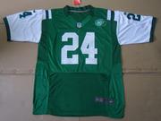 2012 Nike Jets #24 Darrelle Revis #6 Mark Sanchez Green Elite Jersey
