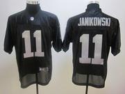 2012 Nike Oakland Raiders #11 Sebastian Janikowski Black Elite Jersey