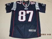 2012 Nike Patriots #87 Rob Gronkowski #12 Tom Brady Blue Elite Jersey