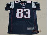 2012 Nike Patriots #83 Wes Welker #12 Tom Brady Blue Elite Jersey
