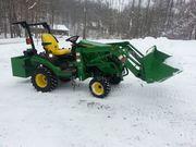 =$ 4, 760 = 2013 John Deere 1026R Loader Forks Mower
