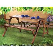 RUSTIC CONVERTIBLE GARDEN TABLE $256.95 free shipping