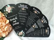 Custom Stationery Specializing in Wedding Fan Programs